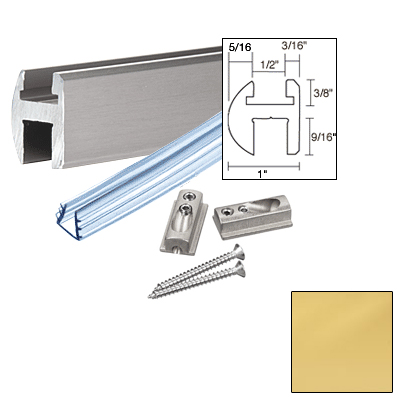 Euro Shower Door Header Kit 66in Bright Gold Anodized