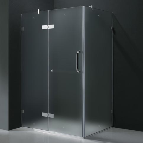 Vigo 32 X 48 Frameless 3 8 Quot Frosted Chrome Shower
