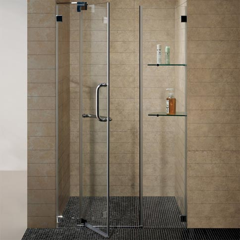 Vigo 48 Inch Frameless Shower Door 38 Clear Glass Brushed Nickel
