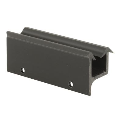 shower door guide frameless door black